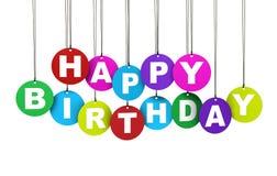 Färgrikt begrepp för lycklig födelsedag Arkivfoton