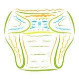 Färgrikt behandla som ett barn blöjan, hygien och komfort royaltyfri illustrationer