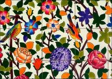 Färgrikt belägger med tegel Royaltyfri Fotografi