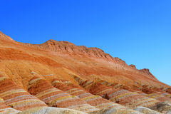 Färgrikt berg i Kina Arkivbild