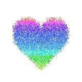 Färgrikt blänka hjärta Arkivfoto