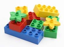 färgrikt blockbyggande arkivbild