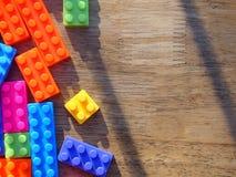 färgrikt blockbyggande Arkivfoton