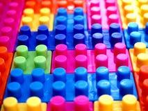 färgrikt blockbyggande Royaltyfria Foton