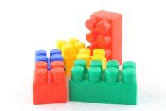 färgrikt blockbyggande Arkivfoto