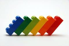färgrikt blockbyggande Royaltyfria Bilder