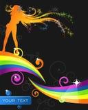 färgrikt blom- för abstraktion Arkivbild