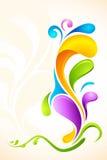färgrikt blom- för bakgrund vektor illustrationer