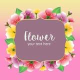 färgrikt blom- för kort royaltyfri illustrationer