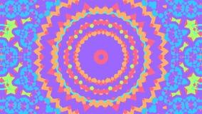 Färgrikt blom- kalejdoskopabstrakt begrepp dj kretsar bakgrund arkivfilmer