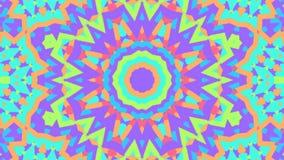 Färgrikt blom- kalejdoskopabstrakt begrepp dj kretsar bakgrund lager videofilmer