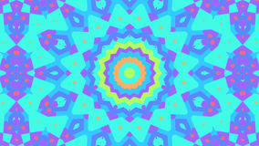 Färgrikt blom- kalejdoskopabstrakt begrepp dj kretsar bakgrund stock video