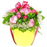 färgrikt blommaband för bukett Royaltyfria Foton