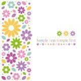 Färgrikt blommahälsningkort Royaltyfria Bilder