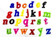 Färgrikt bokstavsalfabet som lär rolig stavning Fotografering för Bildbyråer
