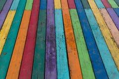Färgrikt bräde för bakgrund Arkivfoto