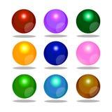 Färgrikt bubbla shpere Arkivbilder