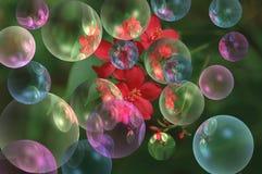 Färgrikt bubblar fotografering för bildbyråer
