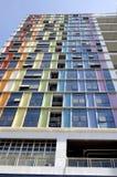 färgrikt byggande arkivfoto