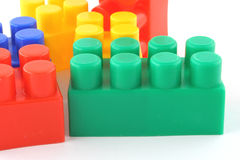 färgrikt byggande för 2 block Royaltyfri Fotografi