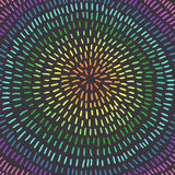 Färgrikt cirkla konst Abstrakt bakgrund, regnbågefärger Royaltyfri Bild