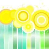 Färgrikt cirklar och fodrar stock illustrationer