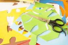 Färgrikt collagepapper Arkivfoton