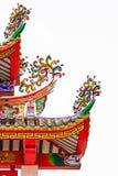 Färgrikt Decoratived tak av den kinesiska paviljongen Arkivbild
