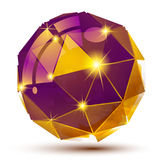 Färgrikt dimensionellt geometriskt objekt för plast- korn stock illustrationer