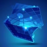 Färgrikt dimensionellt geometriskt objekt för plast- korn vektor illustrationer