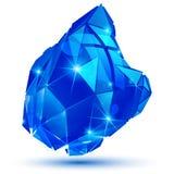 Färgrikt dimensionellt geometriskt objekt för plast- korn, mousserande s stock illustrationer