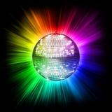 färgrikt disko för boll Arkivfoton