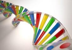 Färgrikt DNA 3D Royaltyfri Bild