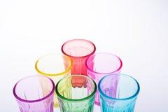 Färgrikt dricka exponeringsglas Arkivbilder