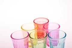 Färgrikt dricka exponeringsglas Royaltyfria Foton