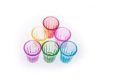 Färgrikt dricka exponeringsglas Royaltyfria Bilder