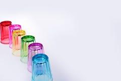 Färgrikt dricka exponeringsglas Arkivfoton