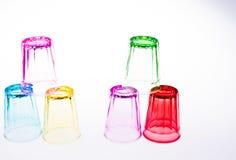 Färgrikt dricka exponeringsglas Royaltyfri Foto