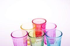 Färgrikt dricka exponeringsglas Royaltyfri Fotografi