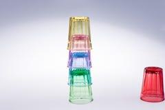Färgrikt dricka exponeringsglas Arkivbild