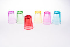 Färgrikt dricka exponeringsglas i hand Fotografering för Bildbyråer