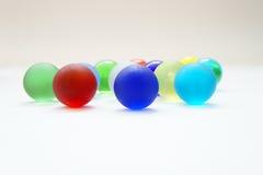 färgrikt exponeringsglas för bollar Arkivbild