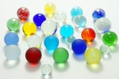 färgrikt exponeringsglas för bollar Arkivbilder