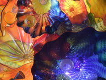 färgrikt exponeringsglas för konst chihuly arkivfoton