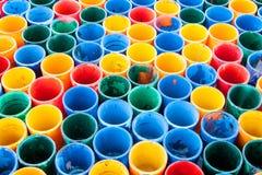 färgrikt exponeringsglas, i att ordna för abstrakt bakgrund Royaltyfri Bild