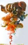 färgrikt färgpulver Arkivbilder