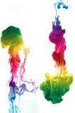 färgrikt färgpulver Royaltyfri Fotografi
