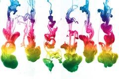 färgrikt färgpulver Arkivbild