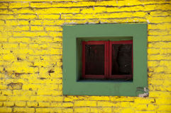 färgrikt fönster Arkivbilder