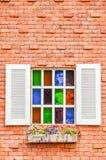 Färgrikt fönster Arkivbild